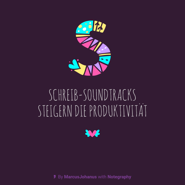 Schreib-Soundtrackssteigernd